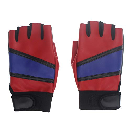 Coolcoco Adjustable Leather Gloves for Harley Quinn Women Girl Kid Cosplay Costume]()