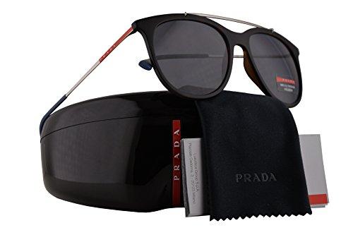 Prada PS02TS Sunglasses Havana Rubber w/Polarized Grey Lens 54mm U61144 SPS02T PS 02TS SPS 02T (Prada 54mm)