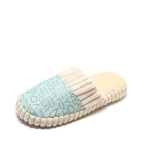 Cotone Pantofole Del Fondo Corrispondente Donna Xiu Blu Casa Piatto In Il Baotou Comfort Colore Ciabatte Da Con 4A1Xg