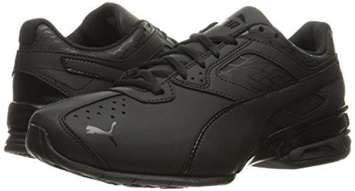PUMA Men's Tazon 6 Fracture FM Sneaker, Black, 7.5 M US