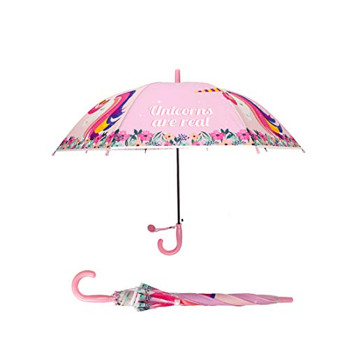 fbd63f202957 iMucci Kids Animal Cartoon Umbrella 3D Animal Pop Up Printed Umbrella Sun  and Rain Printed Umbrellas with Windproof, UV Protection(Unicorn)
