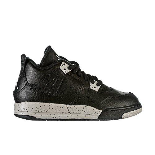 Nike Jordan Kids Jordan 4 Retro Ls Bp Black/Tech Grey/Black Basketball Shoe 13 Kids US (Air Jordan 4 Retro Oreo)