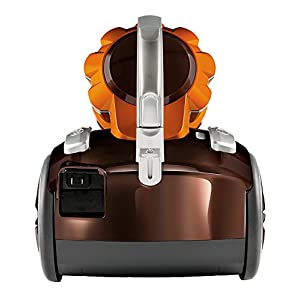 Bissell Hard Floor Expert Multi-Cyclonic Bagless Canister Vacuum - top view of canister