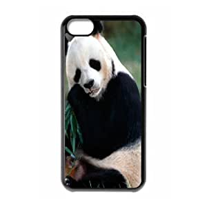 IPhone 5C Cases Panda, Case for Iphone 5c for Women - [Black] Okaycosama