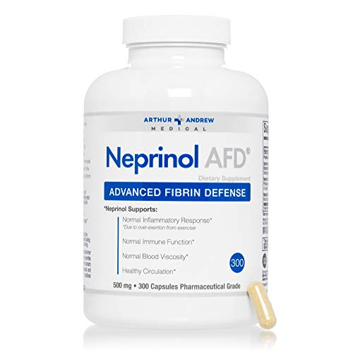 Arthur Andrew Medical - Neprinol AFD, Advanced Fibrin Defense, Natural Inflammatory Response, Immune Function, and Healthy Circulation, Vegan, Non-GMO, 300 Capsules