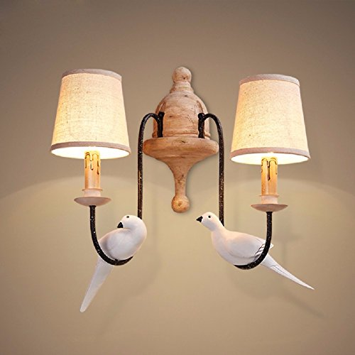 ZPSPZ Wall Lamp Northern Europe Lovable Field Bird Wall Lamps And Lanterns,Double