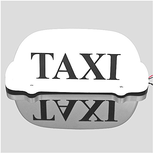 Taxi Top Light/New LED Roof Taxi Sign 12V with Magnetic Base, Taxi dome light white top (Dome Light Base)