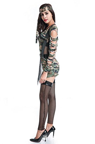 Pretty G Hot Sexy Camouflage Cool Tight Dress Halloween Fancy Party Costume (X-large) (Katniss Halloween Costumes 2017)