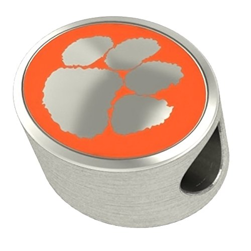 Clemson University Tigers Bead Fits All Beaded Charm Bracelets