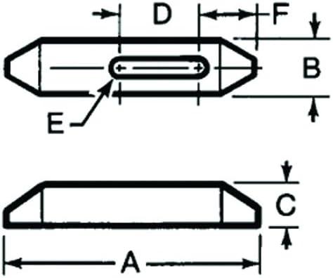A 6 OAL // 1//2 Stud E Plain Clamps Meda Series 674 /& Te-Co Series 803