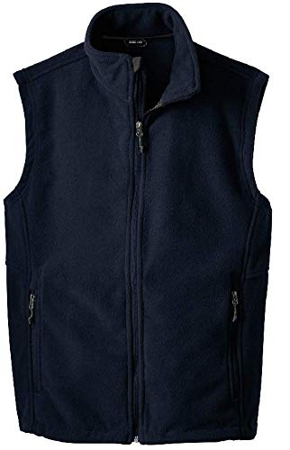 - Joe's USA Men's Soft and Cozy Fleece Vest-L-Navy
