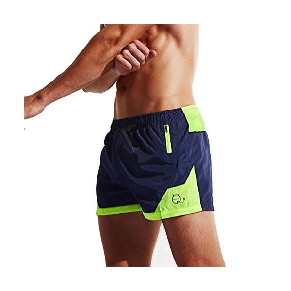 Lachi Costume da Bagno Uomo Mare Vita Elastica con Coulisse Pantaloncini Mare Asciugatura Rapida Spiaggia Nuoto Serf 2 spesavip
