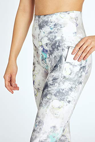 Marika Ruby High Rise Pocket Capri Legging, Gull Rainbow Bubble, X-Large