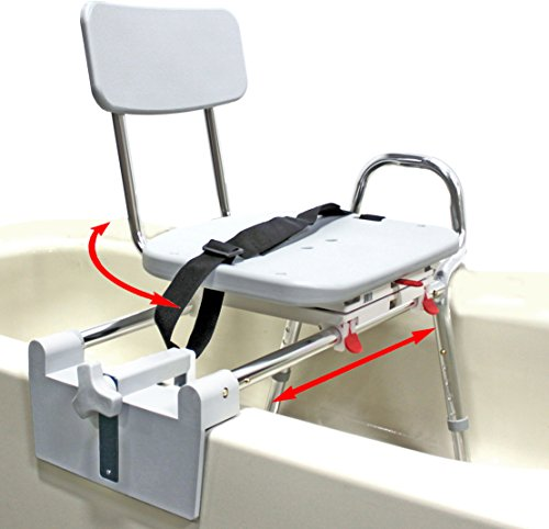 Bathtub Transfer - Tub-Mount Swivel Sliding Bath Transfer Bench (77762) - Regular - Heavy-Duty Shower Bathtub Chair - Eagle Health Supplies