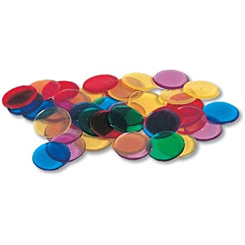 ETA hand2mind Transparent Round Counting Chips, Set of 250