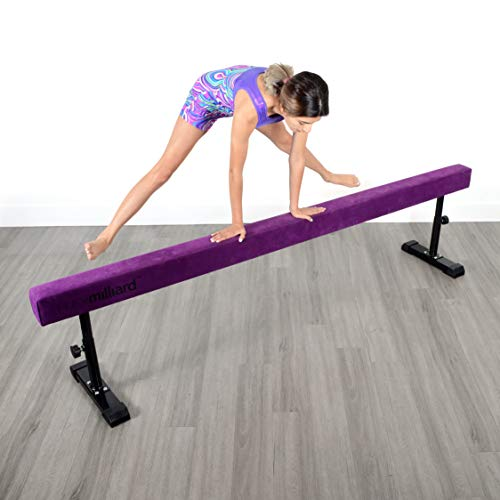 Milliard Adjustable Balance Beam, High and Low [8 Feet] Floor Beam Suede Gymnastics Competition Style Training with Legs by Milliard (Image #5)
