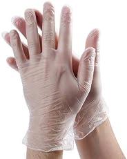 Vinyl Disposable Gloves, Large, 100 Count