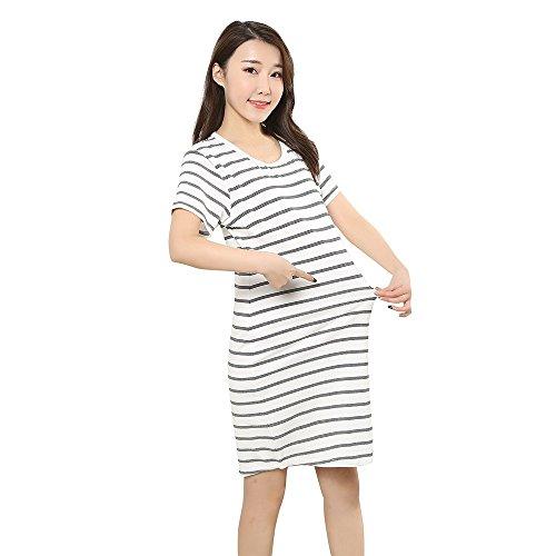 Huhu833 Mutterschaft Kleid Schwangere Mutterschaft Damen Sommermode ...