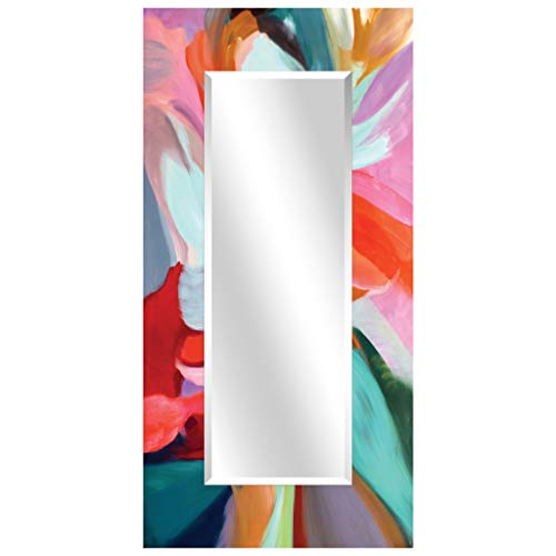 Empire Art Direct Integrity of Chaos Rectangular Beveled Mirror on Free Floating Reverse Printed Tempered Art Glass Ready to Hang, 72 x 36
