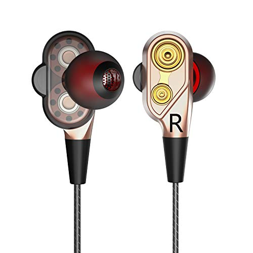 - AMASKY in-Ear Headphones, Earbuds, Dynamic Crystal Clear Heavy Bass Earphones Compatible with iPhone iPad iPod Smart Android Phones - Golden