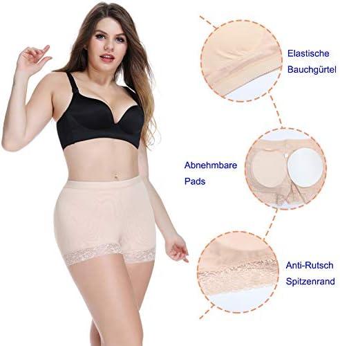 Shujin Damen Unterhose Padded H/öschen Butt Lifter Push Up Po Miderhose Polster Miederpants Enhancer Panty Spitze Slip Body Shaper Shapewear Seamless Unterw/äsche