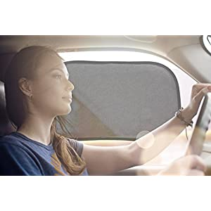 50 Shades of Sun Car Sun Shade for Side Window - Easy Cling Sunshade for Any Type of Car - Perfect Tint for You and Your Baby - GUARANTEED 97% UV PROTECTION