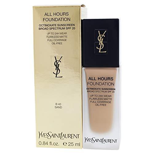 Yves Saint Laurent All Hours Foundation Spf 20, B40 Sand, 0.84 Ounce (Best Yves Saint Laurent Foundation)