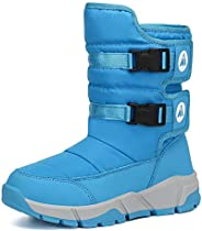 Mishansha Girls Boys Winter Fur Snow Boots Warm Water Resistant Antislip Cold Weather Outdoor Shoes