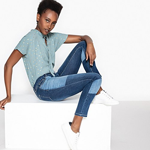 Blu Stone Con La Slim Patch Donna Jeans Redoute Collections qrXwwax807