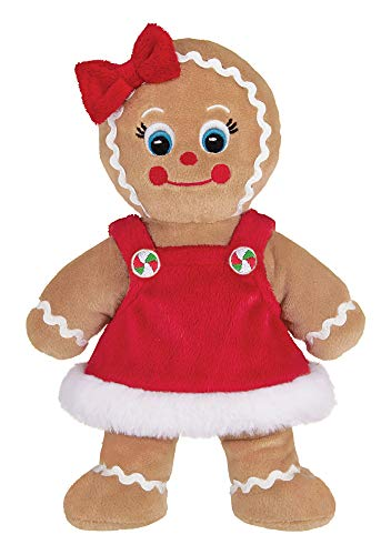 Bearington Holly Ginger Plush Stuffed Animal Gingerbread Girl, 10 Inches from Bearington Collection