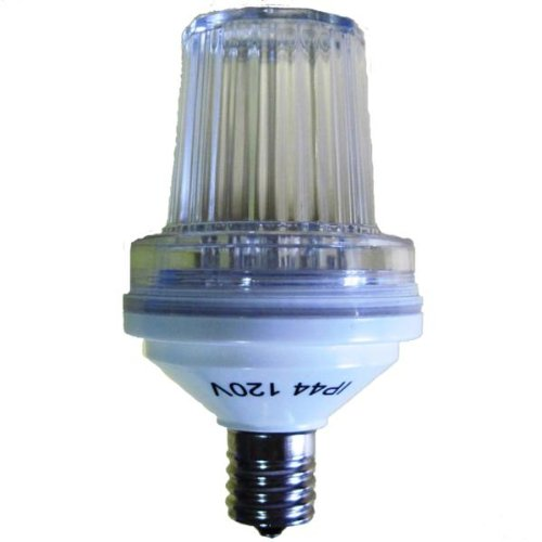 Queens of Christmas WL-STROBE-ICL-E17 E17 Base 8W Incandescent Strobe Light (130 Flash/Minute) ()