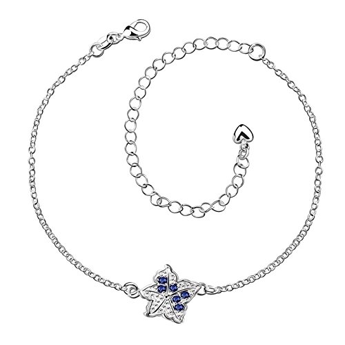 Bishilin Anklet Bracelet With Charms Star Cubic Zirconia anklet ocean 2.1 CM by Bishilin