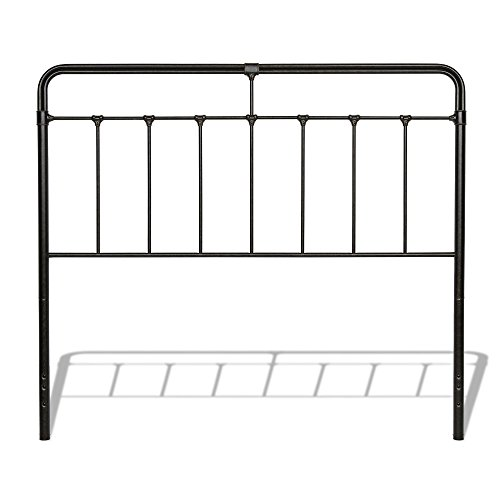 Fashion Bed Group Fairfield Metal Headboard with Spindles and Castings, Dark Roast Finish, California King