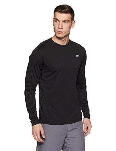 New Balance Mens Accelerate Long Sleeve Tee Shirt, Black, Large