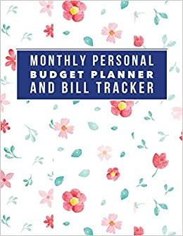 monthly personal budget planner and bill tracker personal money
