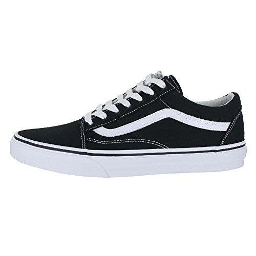 c994a54fed Vans Unisex Old Skool Black True White Skate Shoe 10.5 Men US - Import It  All