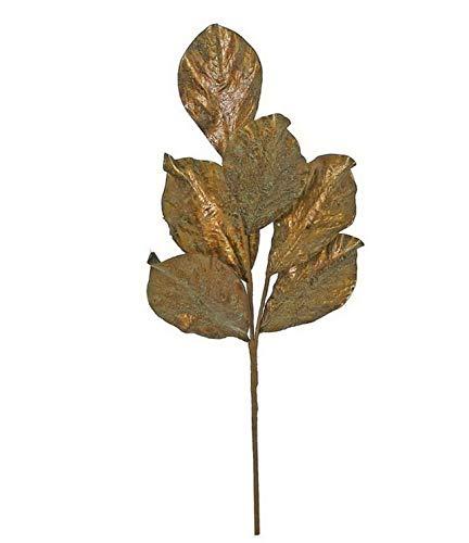 Mikash 21 Autumn Metallic Copper Artificial Magnolia Leaf Pick   Model WRTH - 483