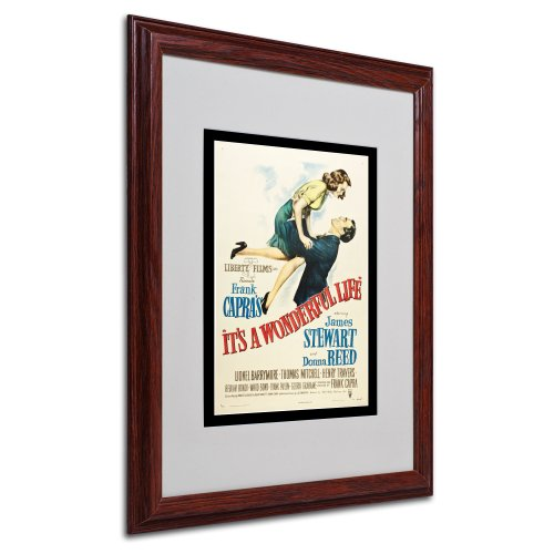 It's a Wonderful Life Artwork by Vintage Apple Collection, Wood Frame, 16 by 20-Inch