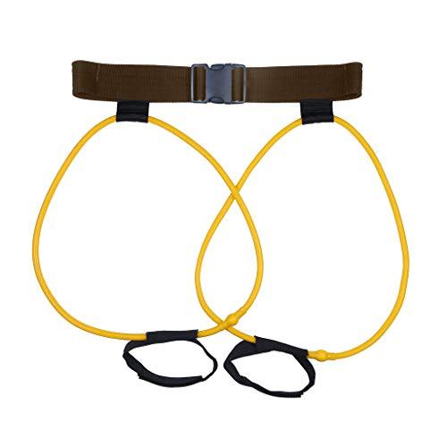 CapsA Resistance Loop Exercise Bands Yoga Pull Band Stretching Belt Exercise Resistance Booty Band for Home Fitness Crossfit Stretching Strength Training Physical Latex Workout (Yellow)]()