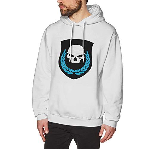 HiPiClothK Mens Pop Game Ghost Recon Skull Leaf Logo Classic Jogging Comfortable Sweatshirt -