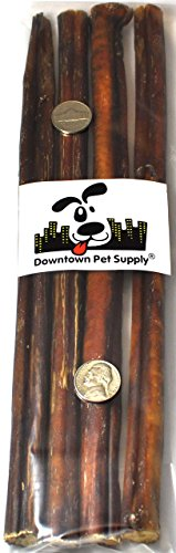 Best Free Range Bully Sticks, Great Training Dog Treats - Low Order, USDA/FDA Approved (1/2 LB)