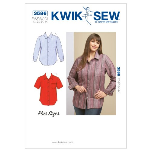 Kwik Sew K3586 Shirts Sewing Pattern, Size 1X-2X-3X-4X by KWIK-SEW PATTERNS