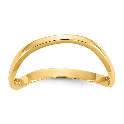 14k Yellow Gold Wave Fashion Thumb Band Ring Size 9.00 Fine Jewelry Gifts For Women For Her