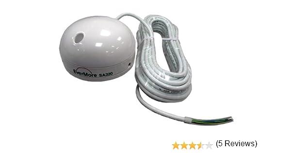 Evermore SA-320 Lowrance - Receptor GPS para barco, 12 canales, con interfaz RS-232 compatible con radios y plotters Lowrance y Globalmap, incluye fijación y cable de datos NMEA abierto: Amazon.es: Electrónica