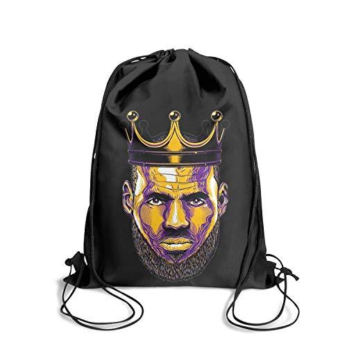 GUYI3 Drawstring Bag Sports Teens Storage King-23-Labron-Player- Drawstring Bags for Women & Men