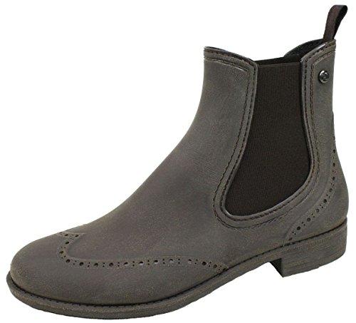 BOCKSTIEGEL® CHELSEA Mujer - Medio Botas de goma con estilo | Chelsea Boots | A prueba de agua | Elegante | Exclusivo Brushed – Brown