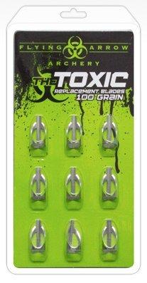 Toxic Replacement Blades, 100 Grain, 9 Pack (Flying Arrow Toxic Broadhead 3 Blade 100 Grain)