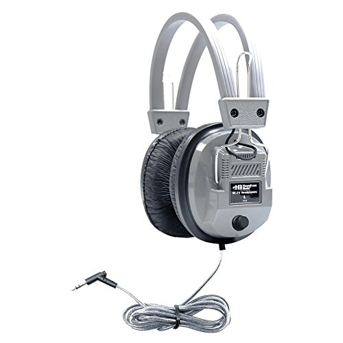 HamiltonBuhl SchoolMate Deluxe Stereo Headphone with 3.5 mm Plug and Volume ()