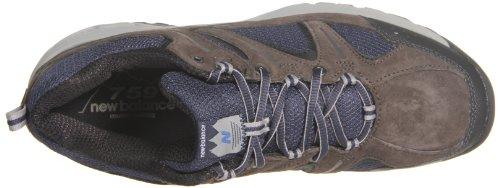 New Balance MW759 D LOW CUT - Zapatos de senderismo de cuero hombre - Brown with Blue