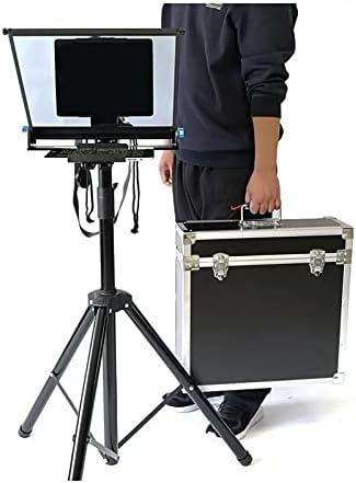 DXFK.AM Teleprompter De Teléfono Inteligente con Cámara DSLR Portátil para Entrevistas En Vivo Teleprompter Móvil De Transmisión De Video